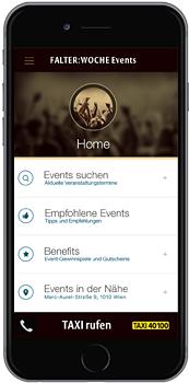 FALTER Events-App für das iPhone